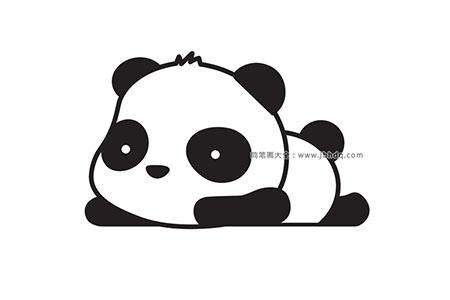 如何画可爱的大熊猫