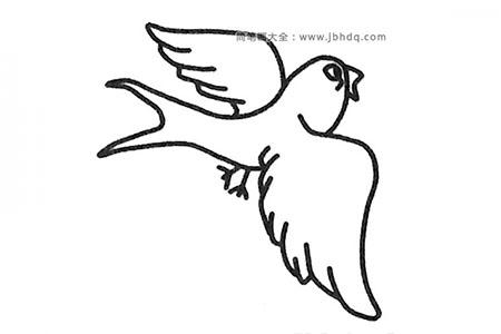 简单易学的燕子简笔画