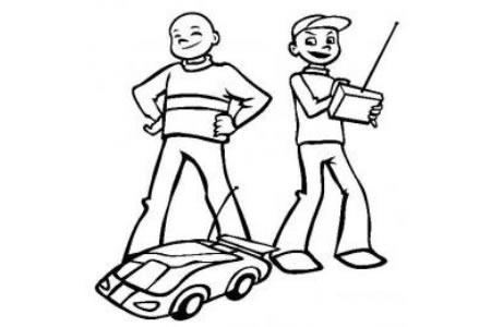 儿童玩具图片 遥控车简笔画图片
