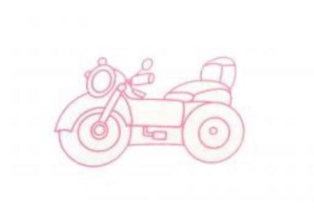 三张摩托车简笔画图片