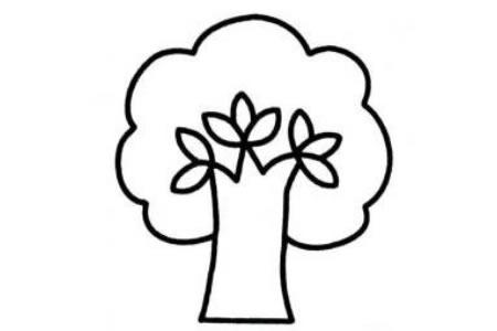 树的画法幼儿简笔画