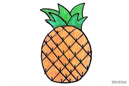 菠萝简笔画怎么画