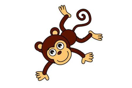调皮的小猴子简笔画教程