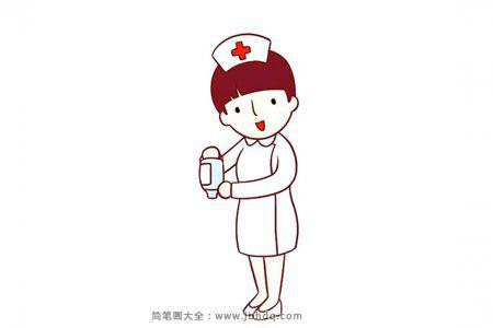 漂亮的小护士简笔画