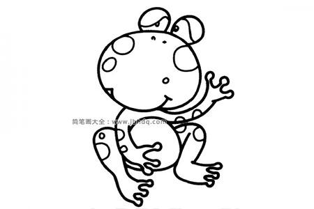 调皮的青蛙简笔画