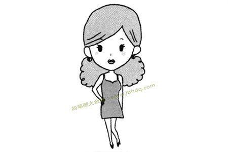 形形色色的人物女青年简笔画教程