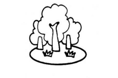 幼儿简单大树简笔画