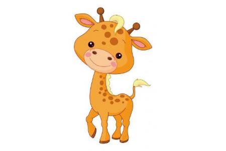 关于长颈鹿的儿童简笔画