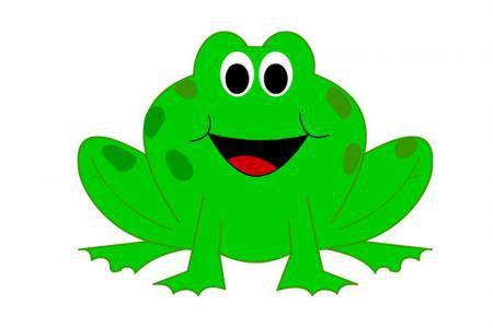 卡通青蛙简笔画带颜色