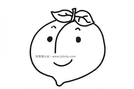 可爱的卡通桃子简笔画图片