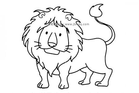 可爱的狮子简笔画图片