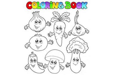 蔬菜卡通造型简笔画