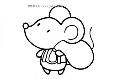 拿着包袱的小老鼠