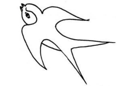 小鸟简笔画大全 燕子简笔画画法