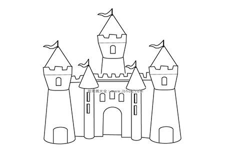 童话里的城堡简笔画