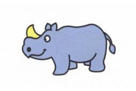 犀牛简笔画画法