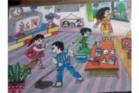 儿童画暑假第一天