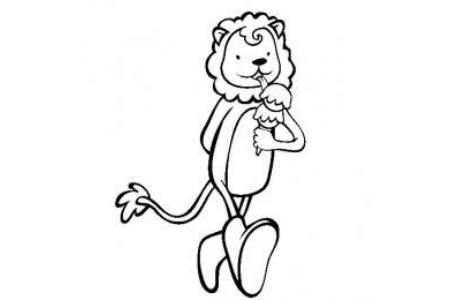 动物简笔画 卡通狮子简笔画图片