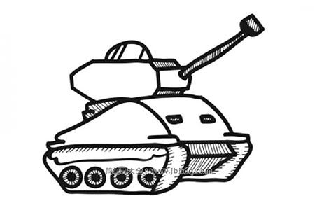 简单可爱的坦克简笔画图片
