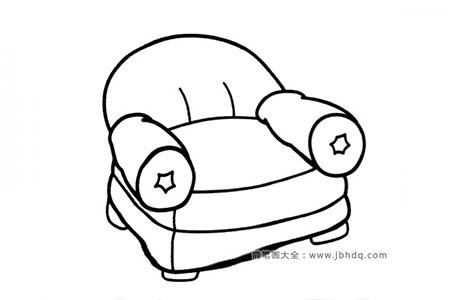 漂亮的单人沙发简笔画