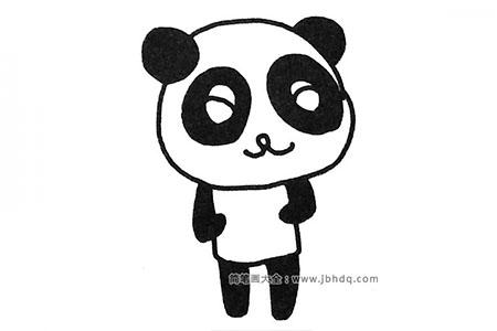 一组超可爱的大熊猫简笔画