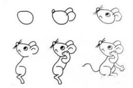 画卡通小老鼠