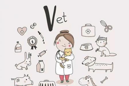 宠物医生简笔画