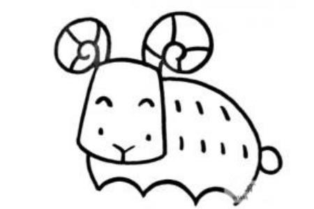 儿童动物简笔画绵羊的画法