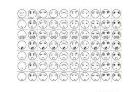 多种人物表情简笔画图片