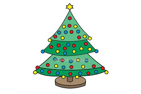 挂满彩灯的圣诞树