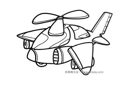 Q版飞机简笔画图片