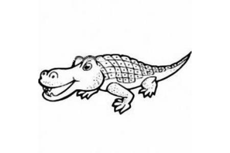 鳄鱼简笔画图片