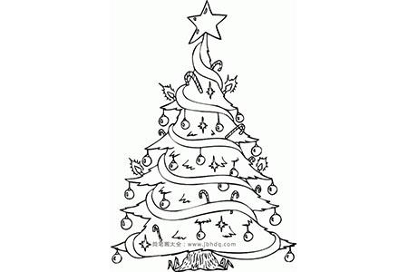简笔画图片 圣诞树