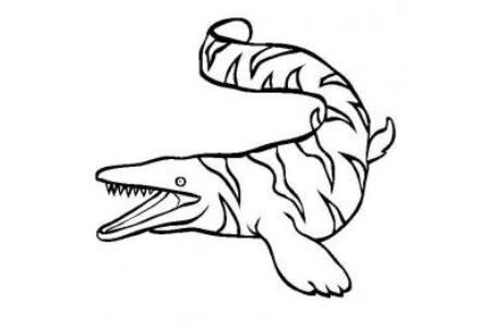 恐龙图片大全 沧龙简笔画图片