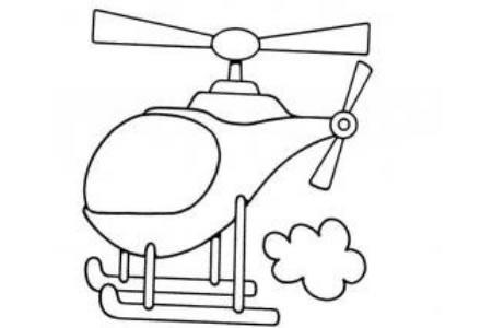 空中的直升机
