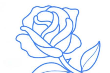如何画玫瑰花简笔画图片