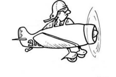 老式螺旋桨飞机简笔画