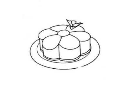 漂亮的月饼简笔画图片