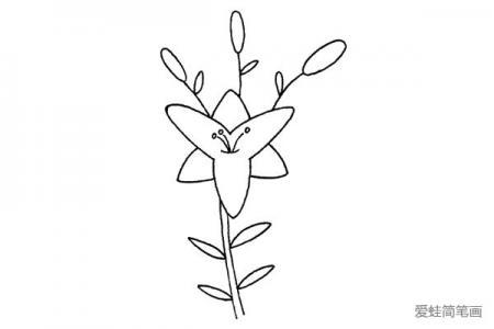 四步画出漂亮的百合花