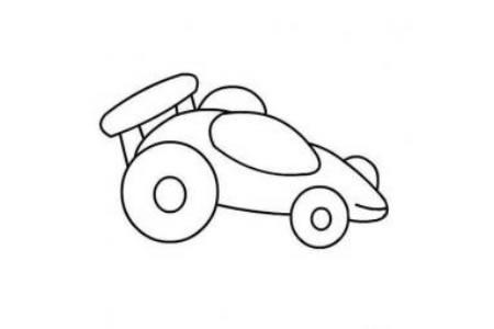幼儿小汽车简笔画 赛车简笔画