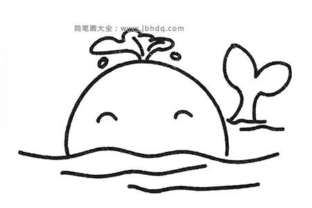 一组可爱的卡通鲸鱼