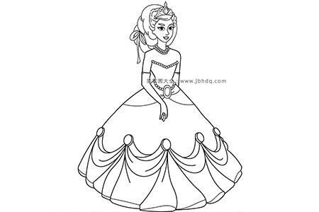 穿着舞会礼服的公主