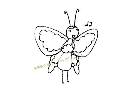 漂亮的蝴蝶简笔画图片