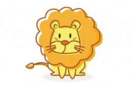 简笔画动画教程之狮子的绘画分解步骤