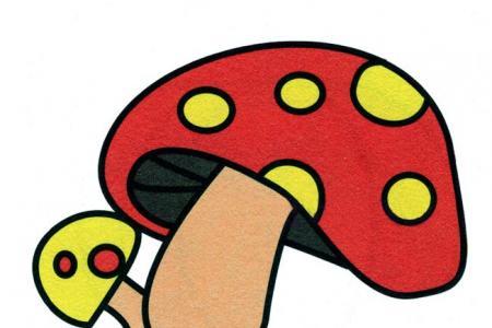 一步一步学画蘑菇