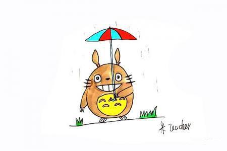 可爱龙猫简笔画教程