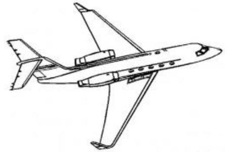 飞机简笔画 航空飞机简笔画图片