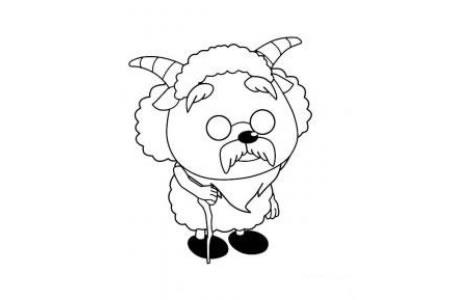 慢羊羊简笔画图片