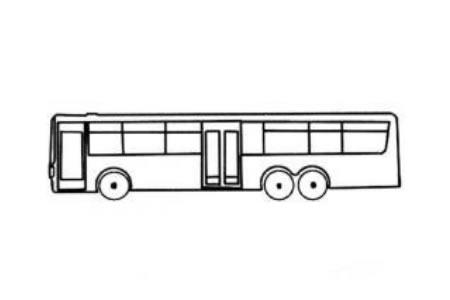 交通工具简笔画 公交汽车简笔画内容图片