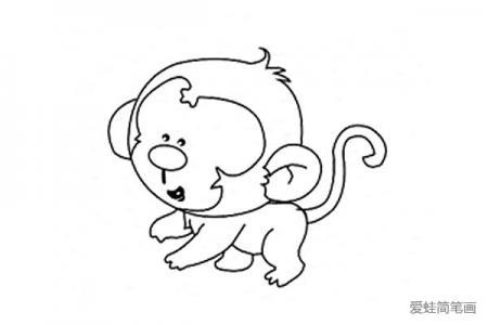 5张简单好画的猴子简笔画